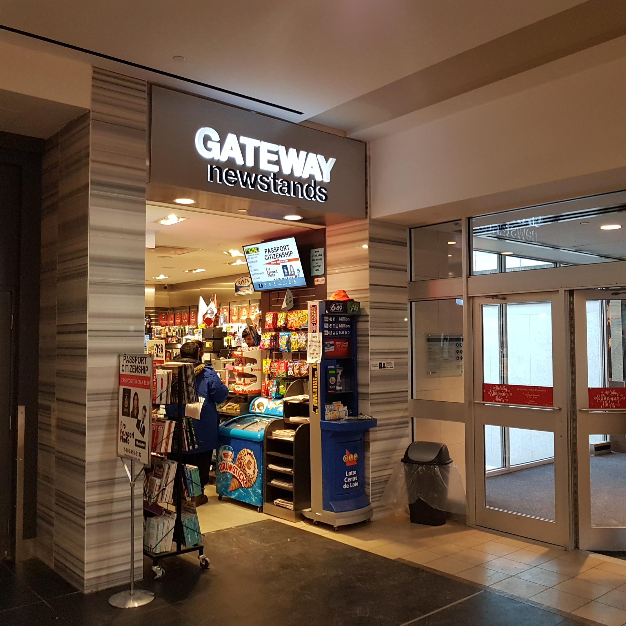 Gateway newstands ttc locations