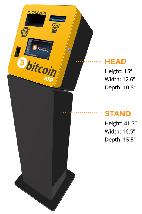host a bitcoin atm - machine dimensions